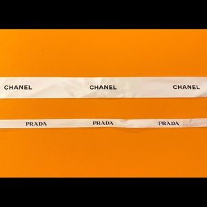 Authentic Chanel and Prada ribbons